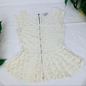 American Eagle Outfitters Back Zip Lace Top